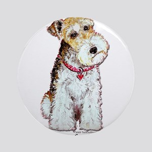 Fox Terrier Pup Ornament (Round)