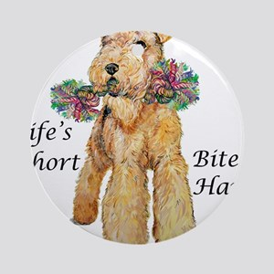 Welsh Terrier Bite! Ornament (Round)