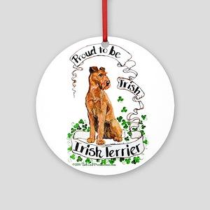Proud Irish Terrier Ornament (Round)