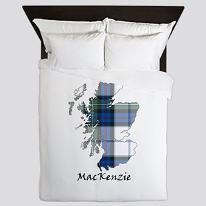 Map-MacKenzie dress Queen Duvet