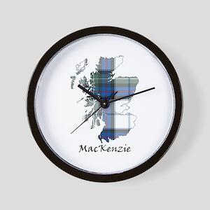 Map-MacKenzie dress Wall Clock