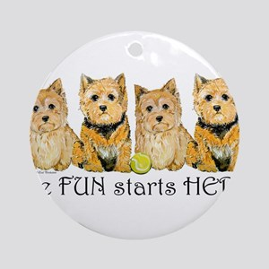Norwich Terrier Fun Ornament (Round)