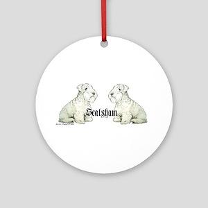 Sealyham Terrier Dog Portrait Ornament (Round)