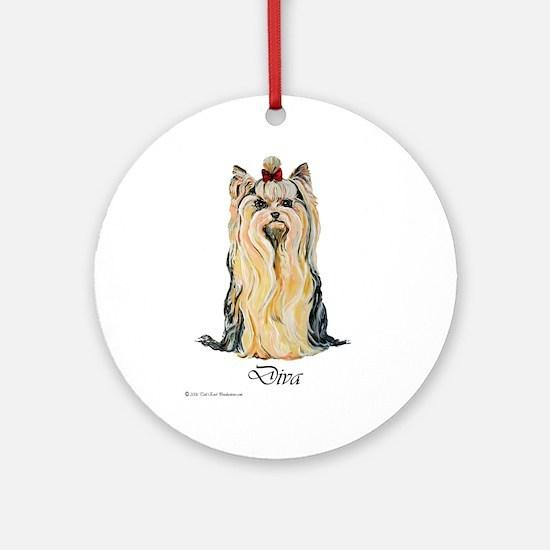 Yorkshire Terrier DRAMA QUEEN Ornament (Round)