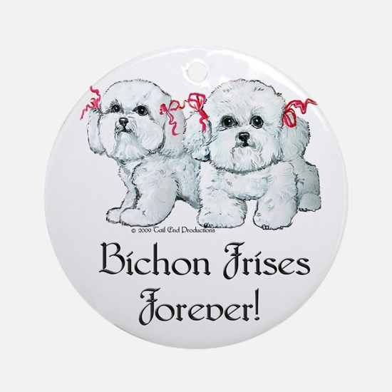 Bichon Frise Fun Ornament (Round)