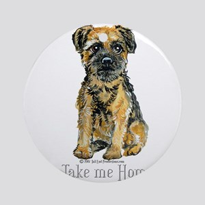 Border Terrier Home Ornament (Round)