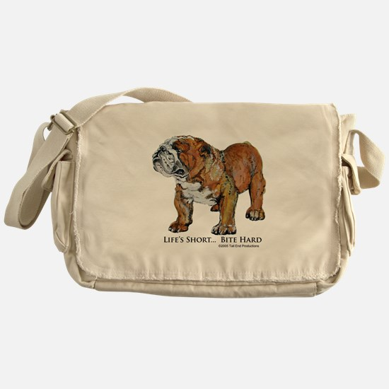 Bulldogs Life Motto Messenger Bag