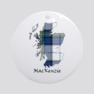Map-MacKenzie dress Round Ornament