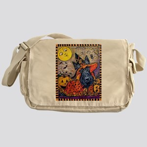 Scottie Halloween Witch Messenger Bag