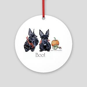 Halloween Scotties Ornament (Round)