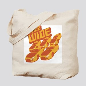 Three Wide Tote Bag
