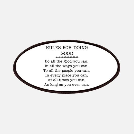 RULES FOR DOING GOOD Patches