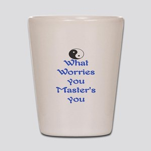 WHAT WORRIES YOU ~ MASTERS YOU Shot Glass