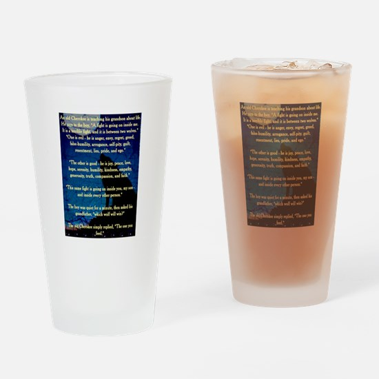 CHEROKEE LESSON Drinking Glass