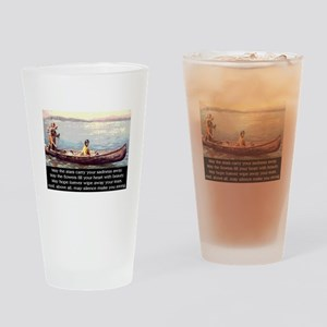 THE WISDOM OF SILENCE Drinking Glass