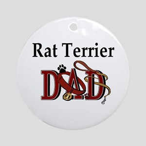 Rat Terrier Dad Ornament (Round)