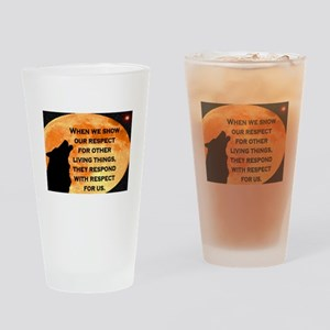 SHOW RESPECT FOR ALL Drinking Glass