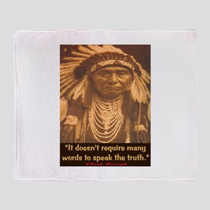 SPEAK THE TRUTH Throw Blanket