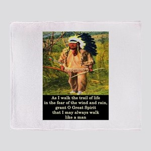 THE TRAIL OF LIFE Throw Blanket