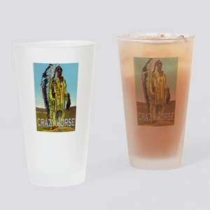 CRAZY HORSE Drinking Glass