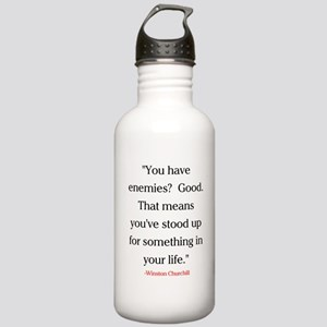 CHURCHILL QUOTE - ENEMIES Stainless Water Bottle 1