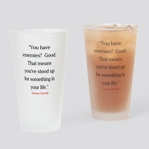 CHURCHILL QUOTE - ENEMIES Drinking Glass