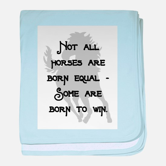 BORN TO WIN.. baby blanket