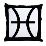 Astrological Sign - Pisces Throw Pillow