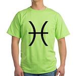 Astrological Sign - Pisces Green T-Shirt