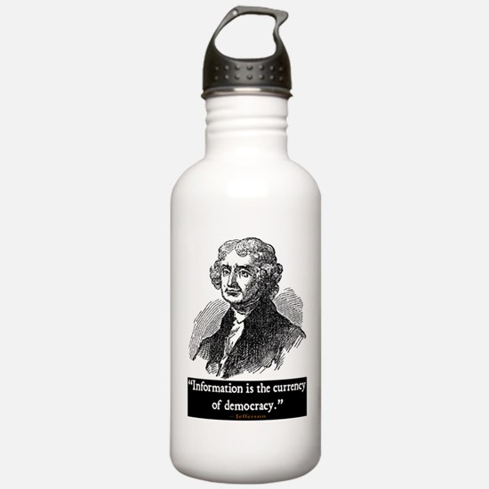 JEFFERSON DEMOCRACY QUOTE Water Bottle