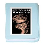 HUMAN RIGHTS baby blanket