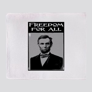 FREEDOM FOR ALL.. Throw Blanket