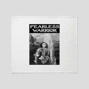 FEARLESS WARRIOR Throw Blanket
