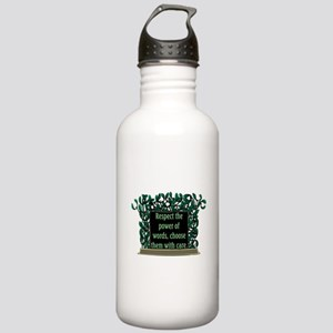 THE POWER OF WORDS.. Stainless Water Bottle 1.0L