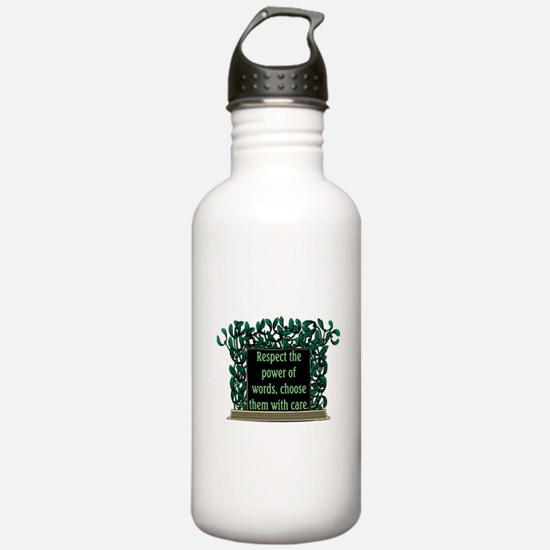 THE POWER OF WORDS.. Water Bottle