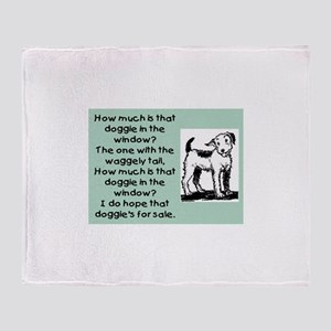 HOW MUCH IS THAT DOGGIE Throw Blanket