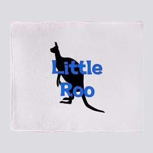 LITTLE ROO (BLUE) Throw Blanket