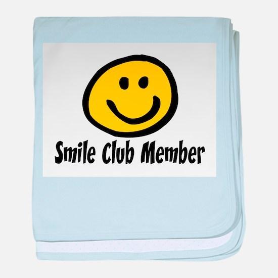 SMILE CLUB MEMBER baby blanket