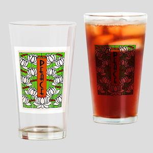 PEACE (Lotus) Drinking Glass