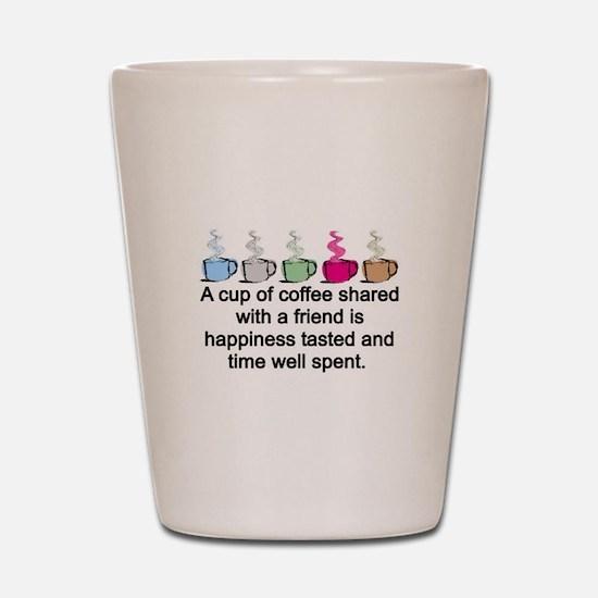 COFFEE SHARED Shot Glass