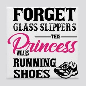 This Princess Wears Running Shoes Tile Coaster