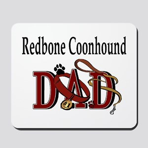 Redbone Coonhound Dad Mousepad