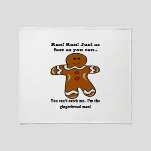 GINGERBREAD MAN! Throw Blanket