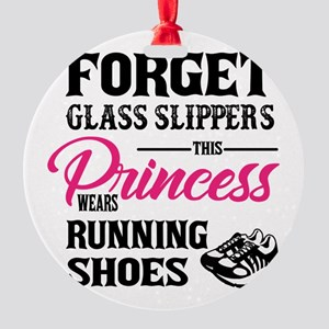 This Princess Wears Running Shoes Round Ornament