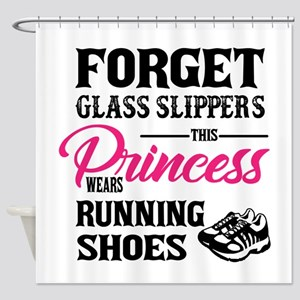 This Princess Wears Running Shoes Shower Curtain