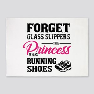 This Princess Wears Running Shoes 5'x7'Area Rug