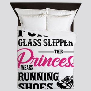 This Princess Wears Running Shoes Queen Duvet