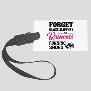 This Princess Wears Running Shoe Large Luggage Tag