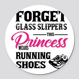 This Princess Wears Running Shoes Round Car Magnet