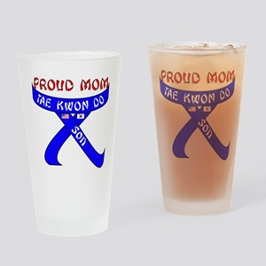 TKD Mom Son Drinking Glass